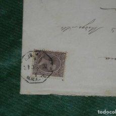 Sellos: SOBRE MATASELLOS AMBULANTE ASCENDENTE 1 ALICANTE - 23 DICIEMBRE 1892 REV.FECHADOR LLEGADA FIGUERAS. Lote 155701730