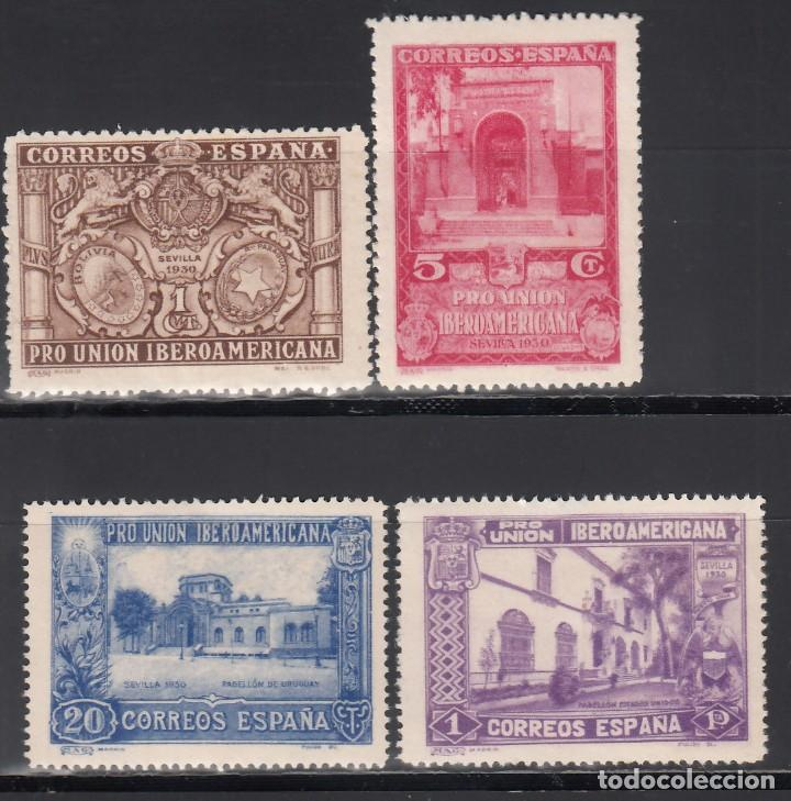 ESPAÑA, 1930 EDIFIL Nº 566, 568, 571, 578, COLORES CAMBIADOS, (Stamps - Spain - Alfonso XIII from 1886 to 1931 - New)
