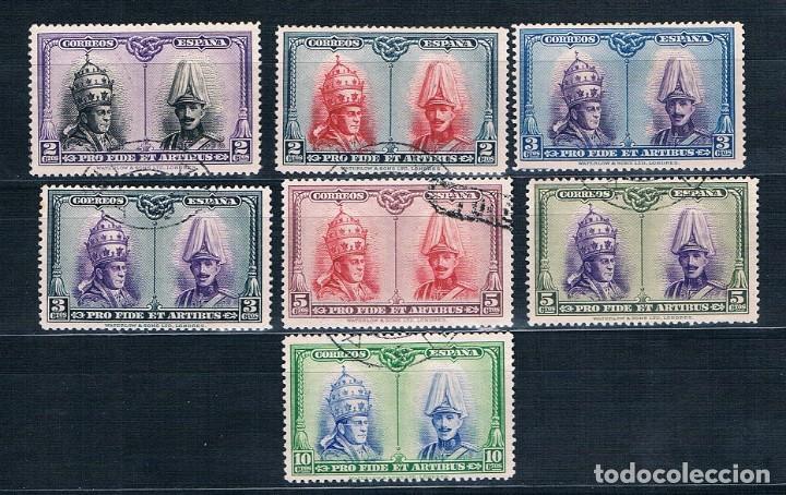 ESPAÑA 1928 LOTE DE SELLOS USADOS PROCATACUMBAS SAN DAMASO USADOS (Sellos - España - Alfonso XIII de 1.886 a 1.931 - Usados)