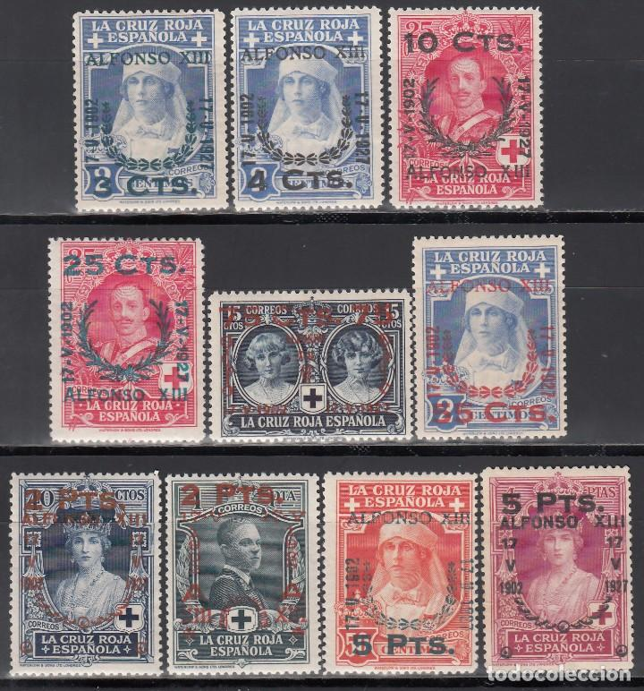 ESPAÑA, 1927, EDIFIL Nº 373, 374, 375, 376, 377, 381, 383, 384, 385, 386, /*/ (Stamps - Spain - Alfonso XIII from 1886 to 1931 - New)