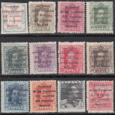 Sellos: ESPAÑA, 1929 EDIFIL Nº 455, 456, 457, 458, 459, 460, 461, 462, 463, 464, 465, 468, /*/. Lote 155711830