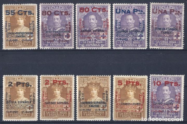 EDIFIL 392-401 XXV ANIVERSARIO DE LA CORONACIÓN DE ALFONSO XIII (SERIE COMPLETA). MNH ** (Briefmarken - Spanien - Alfonso XIII. von 1886 bis 1931 - Neu)
