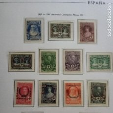 Sellos: 1927-XXV ANIVERSARIO CORONACION ALFONSO XIII.SERIE COMPLETA.MLH.. Lote 155837198