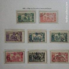 Sellos: 1905.EFIGIE CERVANTES Y D.QUIJOTE.SERIE COMPLETA.USADA.. Lote 155841570