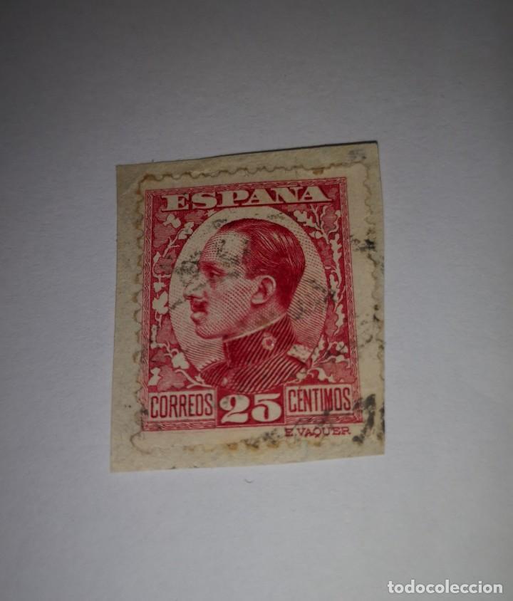 SELLO 25 CENTIMOS ALFONSO XIII (Sellos - España - Alfonso XIII de 1.886 a 1.931 - Usados)