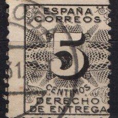 Sellos: ESPAÑA 592 - AÑO 1931 - DERECHO DE ENTREGA - CIFRAS. Lote 156755346