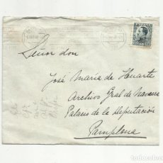 Sellos: CIRCULADA 1930 DE HOTEL LA PERLA A PAMPLONA NAVARRA. Lote 156994590