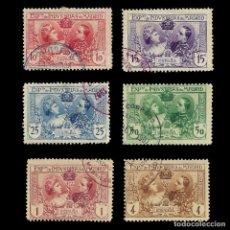 Sellos: SELLOS ESPAÑA.1907-EXPO INDUSTRIAS MADRID.SERIE COMPLETA.MATASELLO.EDIFIL. Nº SR1-SR6. Lote 157760638