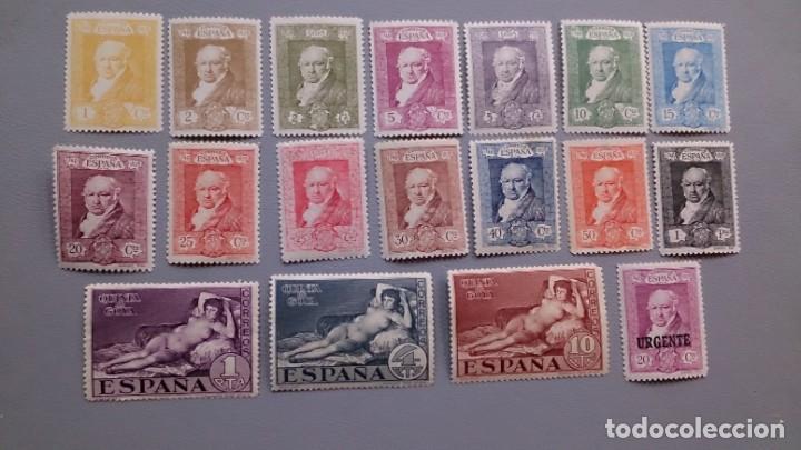 ESPAÑA - 1930 - ALFONSO XIII - EDIFIL 499/515 - SERIE COMPLETA - MH* - NUEVOS - QUINTA DE GOYA. (Sellos - España - Alfonso XIII de 1.886 a 1.931 - Nuevos)