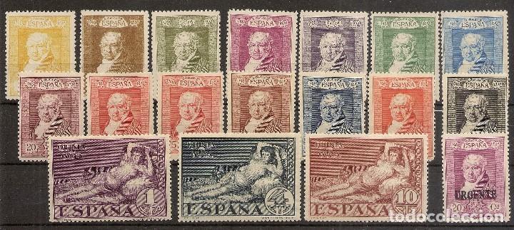 ESPAÑA EDIFIL 499/516* MH QUINTA DE GOYA SERIE COMPLETA 1930 NL1532 (Sellos - España - Alfonso XIII de 1.886 a 1.931 - Nuevos)