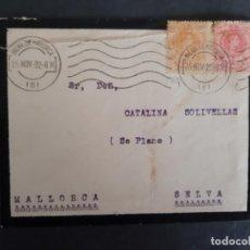 Sellos: CIRCULADA 1922 DE PALMA DE MALLORCA A SELVA BALEARES. Lote 158806930