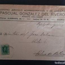 Sellos: CIRCULADA DE CENTRO JURIDICO ADMINISTRATIVO I DE CREDITO DE MADRID A PALMA MALLORCA BALEARES. Lote 158808174