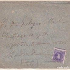 Sellos: CARTA DE NEDA A MADRID CON SELLO Nº 246 MATASELLO CARTERIA PARTICULAR TIPO II . . Lote 159461762