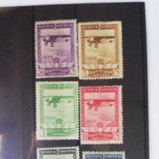Sellos: 1929 14 FEB. EXPOSICIONES SEVILLA-BARCELONA. (CORREO AÉREO) EDIFIL 448/53 * MH LUJO TC11000. Lote 161144362