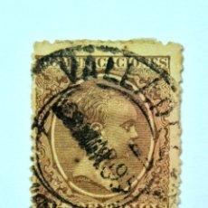 Sellos: SELLO POSTAL ESPAÑA 1889, 15 CMS, REY ALFONSO XIII, USADO. Lote 161187090
