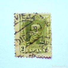 Sellos: SELLO POSTAL ESPAÑA 1924, 2 CÉNTIMO, REY ALFONSO XIII, USADO. Lote 161188078