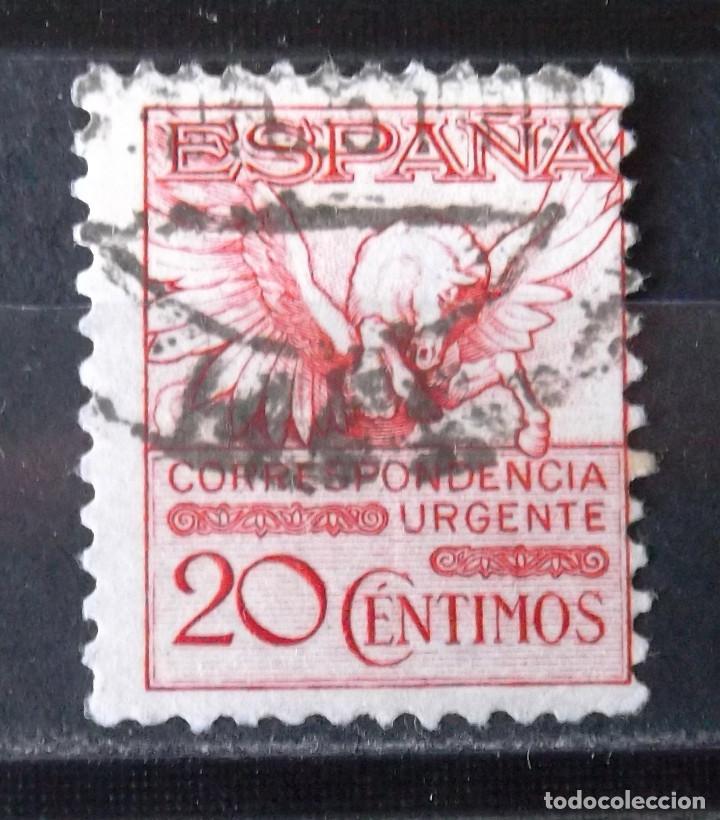 592A, USADO. URGENTE. PEGASO. (Sellos - España - Alfonso XIII de 1.886 a 1.931 - Usados)