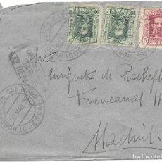 Timbres: VAQUER EDIFIL Nº 312 - 314 (2). SOBRE CIRCULADO DE HORCAJO DE SANTIAGO - CUENCA A MADRID. 1926. Lote 161694494