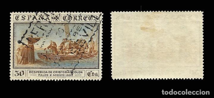 Sellos: Alfonso XIII 1930.Desc. América.30c.Usado. Edifil.540 - Foto 2 - 162314966