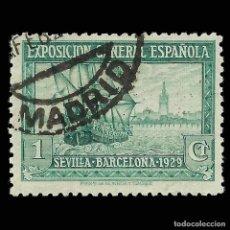Sellos: SELLOS ESPAÑA.EMISIONES S. XX 1929.PRO EXPO. SEVILLA BARCELONA. 1C. VERDE AZUL.USADO. EDIFIL. Nº434. Lote 162333442