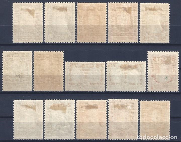 Sellos: EDIFIL 373-387 XXV ANIVERSARIO DE LA JURA DE LA CONSTITUCIÓN 1927 (SERIE COMPLETA). LUJO. MLH. - Foto 2 - 170945539