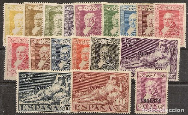 ESPAÑA EDIFIL 499/516** MNH QUINTA GOYA SERIE COMPLETA 1930 NL1324 (Sellos - España - Alfonso XIII de 1.886 a 1.931 - Nuevos)