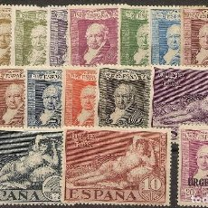 Sellos: ESPAÑA EDIFIL 499/516** MNH QUINTA GOYA SERIE COMPLETA 1930 NL1324. Lote 163611186