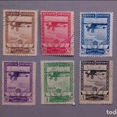 Sellos: ESPAÑA - 1929 - ALFONSO XIII - EDIFIL 448/453 - SERIE COMPLETA - VALOR CATALOGO 158€.. Lote 164323666