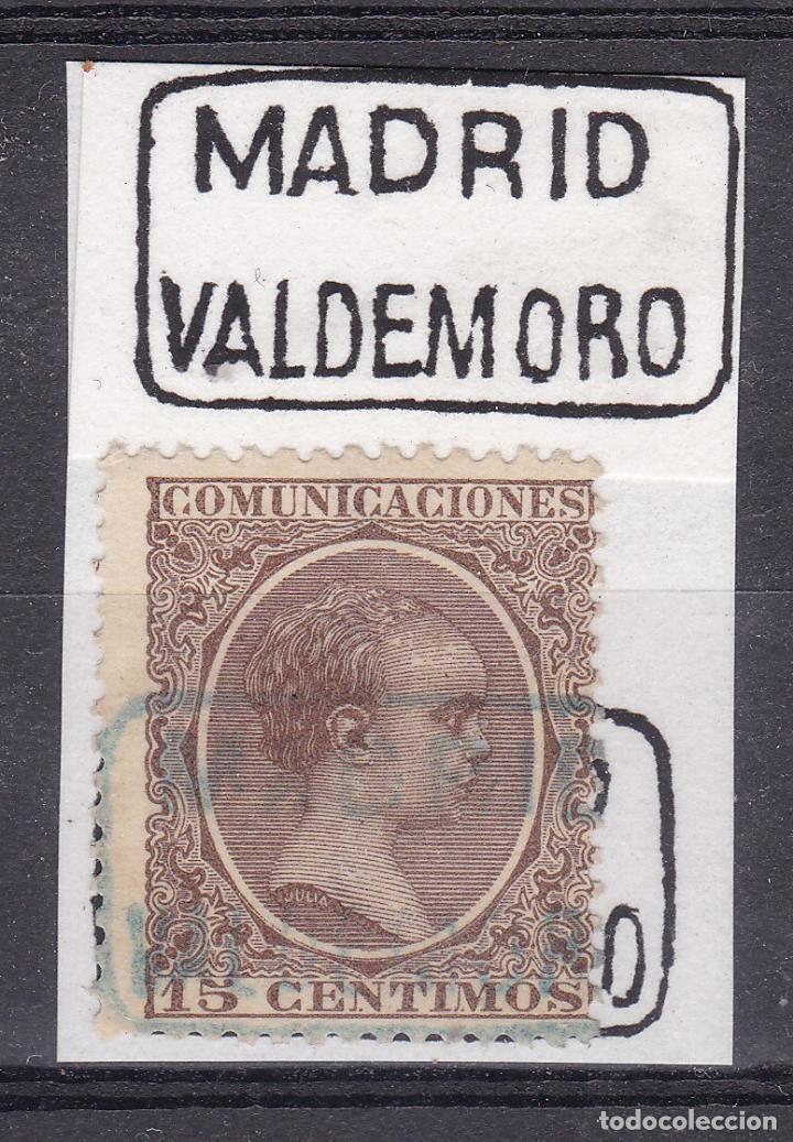 VV16-ALFONSO XIII PELÓN MATASELLOS CARTERÍA VALDEMORO MADRID (Sellos - España - Alfonso XIII de 1.886 a 1.931 - Usados)