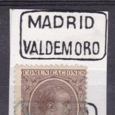 Sellos - VV16-Alfonso XIII Pelón Matasellos Cartería VALDEMORO Madrid - 164370470