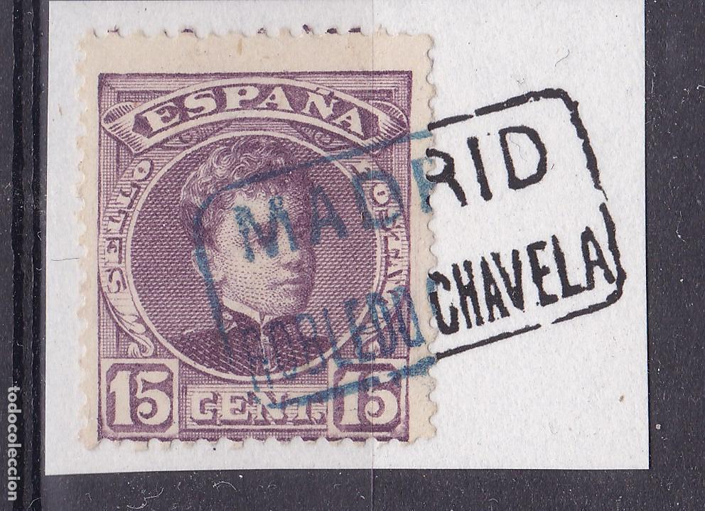 VV16-ALFONSO XIII CADETE MATASELLOS CARTERÍA ROBLEDO DE CHAVELA MADRID (Sellos - España - Alfonso XIII de 1.886 a 1.931 - Usados)
