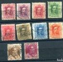 Sellos: EDIFIL 310/323. SERIE COMPLETA DE ALFONSO XIII, TIPO VAQUER. MATASELLADOS.. Lote 164732881