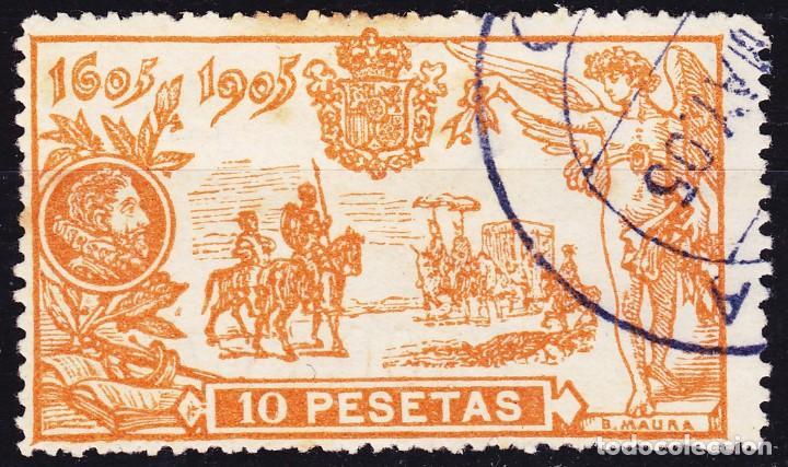 A61 QUIJOTE EDIFIL Nº 266 SELLO USADO SIN DEFECTOS OCULTOS. (Sellos - España - Alfonso XIII de 1.886 a 1.931 - Nuevos)