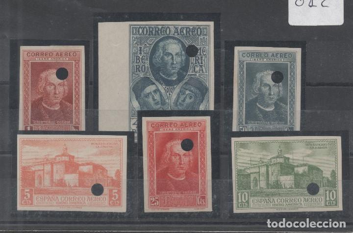 ESPAÑA=EDIFIL Nº 559MTS/564MTS_DESCUBRIMIENTO_SIN DENTAR Y TALADRADOS_NUEVOS SIN FIJASELLO_VER FOTOS (Sellos - España - Alfonso XIII de 1.886 a 1.931 - Nuevos)