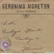 Sellos: F2-51- CARTA- CIUDAD RODRIGO (SALAMANCA) 1904. CON TEXTO. Lote 165664750