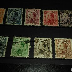 Sellos: EDIFIL 490 A 498. VAQUER DE PERFIL.. Lote 165687464