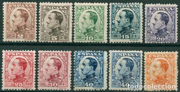 ESPAÑA 190-1931 - EDIFIL 490/98, 497A MH - ALFONSO XIII. TIPO VAQUER DE PERFIL (Sellos - España - Alfonso XIII de 1.886 a 1.931 - Nuevos)