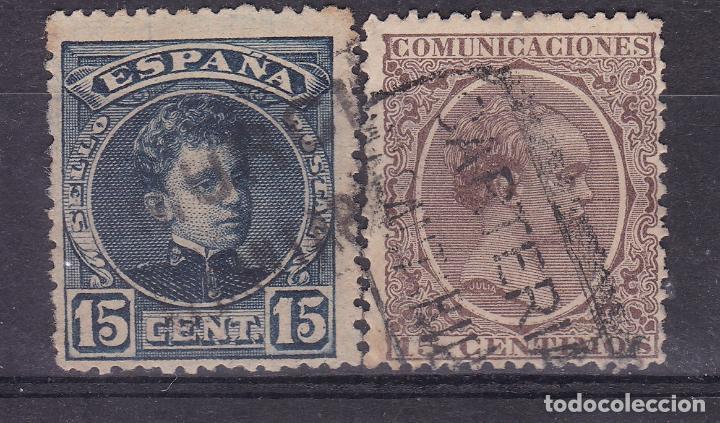RR25-ALFONSO XIII PELÓN / CADETE MATASELLOS CARTERÍA ALCANTARILLA MURCIA (Sellos - España - Alfonso XIII de 1.886 a 1.931 - Usados)