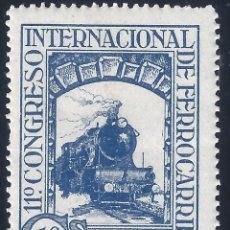 Sellos: EDIFIL 477 XI CONGRESO INTERNACIONAL DE FERROCARRILES 1930. MNH **. Lote 167590372