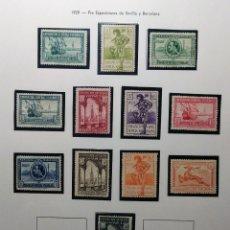 Sellos: 1929. PRO EXP. SEVILLA Y BARCELONA. 434/447*.. Lote 167733138
