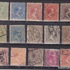 Sellos: YY1- ALFONSO XIII PELÓN X 15 VALORES . USADOS. SIN DEFECTOS . Lote 168126644