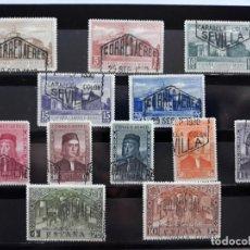 Sellos: SERIE COMPLETA DESCUBRIMIENTO DE AMERICA. ESPAÑA 1930. EDIFIL 547 A 558 EN USADO. Lote 168228140
