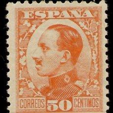 Sellos: ESPAÑA EDIFIL 498 **MNH 50 CÉNTIMOS NARANJA ALFONSO XIII VAQUER 1930/31 NL1376. Lote 168340912