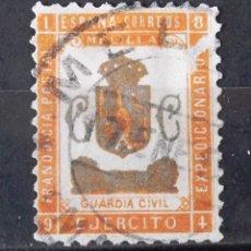 Sellos: FRANQUICIA MILITAR, 47, USADO; MATASELLO DE FECHA; LIGERO ADELGAZAMIENTO EN ANVERSO.. Lote 168577964