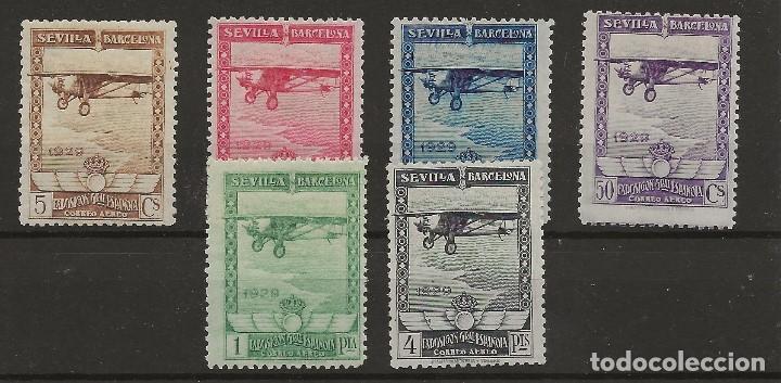 R61/ ESPAÑA 1929, EDIFIL 448/53 * MH, CATALOGO 158,00 € (Sellos - España - Alfonso XIII de 1.886 a 1.931 - Nuevos)