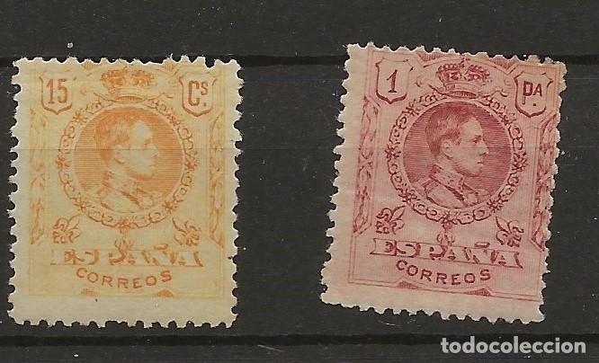 R61/ ESPAÑA 1909-22, EDIFIL 271 Y 278, MH*, CATALOGO 59,25 € (Sellos - España - Alfonso XIII de 1.886 a 1.931 - Nuevos)