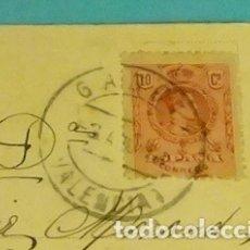 Sellos: MATASELLO CIRCULAR GANDIA - VALENCIA. SELLO SERIE BÁSICA. POSTAL STABAT MATER. Lote 169996032