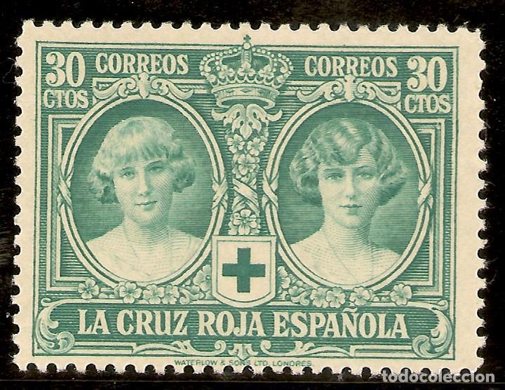 ESPAÑA EDIFIL 332* MH 30 CÉNTIMOS VERDE PRO CRUZ ROJA 1926 NL1117 (Sellos - España - Alfonso XIII de 1.886 a 1.931 - Nuevos)