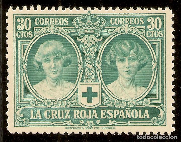 Sellos: ESPAÑA Edifil 332* Mh 30 Céntimos Verde Pro Cruz Roja 1926 NL1117 - Foto 3 - 170302828
