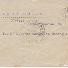 Sellos: CARTAGENA A SAN FERNANDO. 1913. Lote 170861995